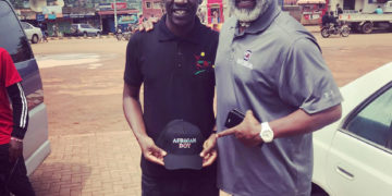 """Banti Ddungu Founder Hope in life Initiative UG With Dewaun Robinson C.E.O Artistic visions FI-Michigan . They are working together under """"Young visionaries """""""
