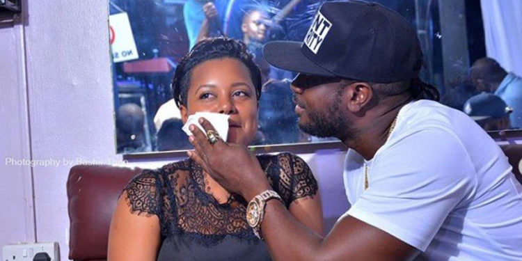 Musician Bebe Cool with his wife Zuena