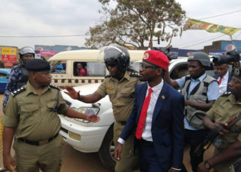 Bobi Wine being arrested after foiled consultation meeting recently