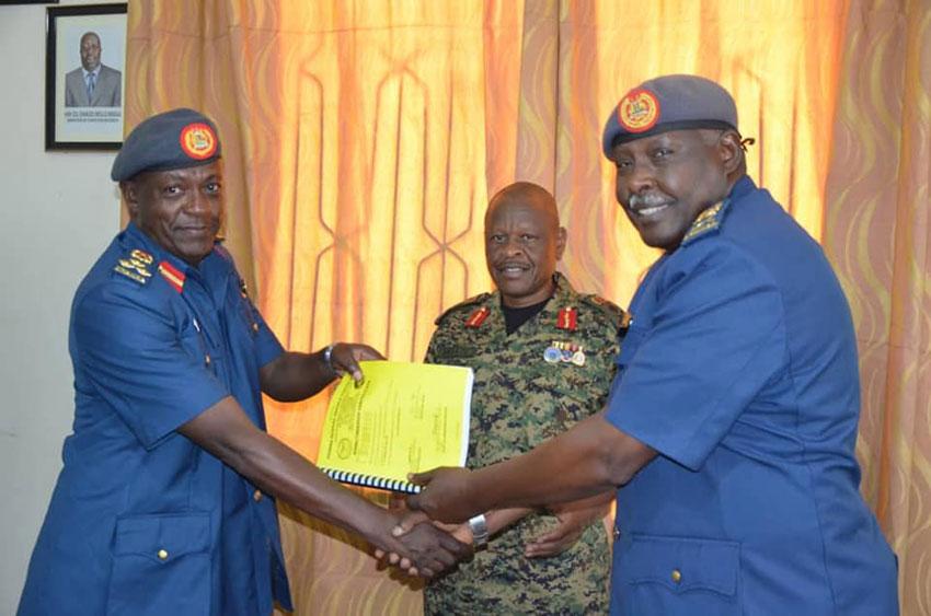 Brig Geoffrey Katsigazi Tumusiime takes over office as Deputy Commander Air Forces