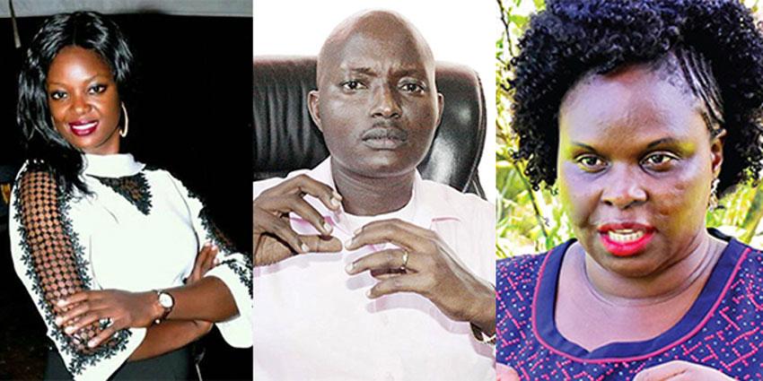 Susan Makula, Aloysius Bugingo and Teddy Naluswa