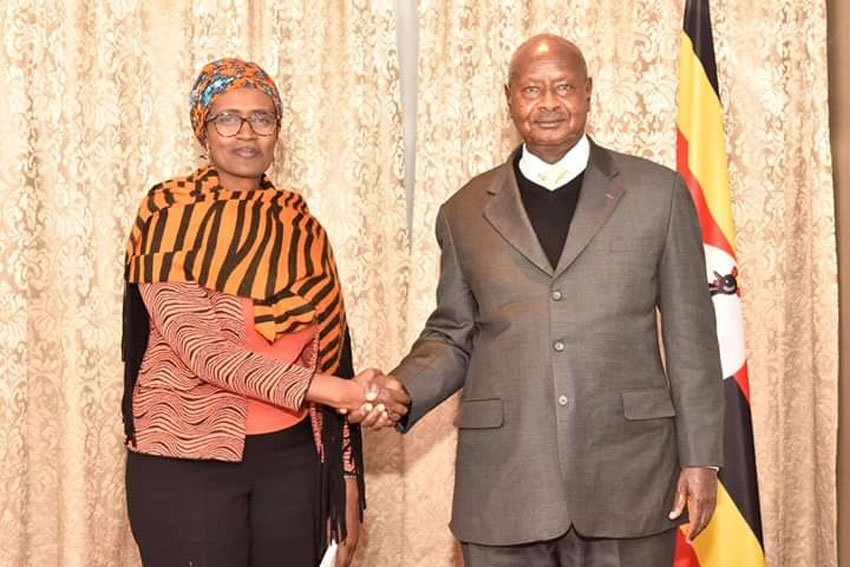 UNAIDS Chief Winnie Byanyima with President Museveni recently