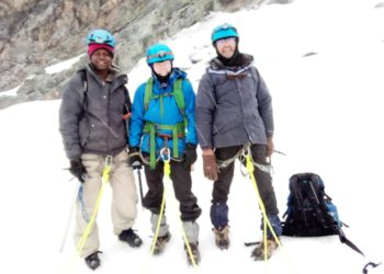 Daily Monitor journalist Franklin Ezaruku and other hikers made it to the top of the Rwenzoris