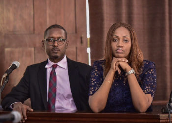 Mathew Kanyamunyu and Cynthia Munangwari in court