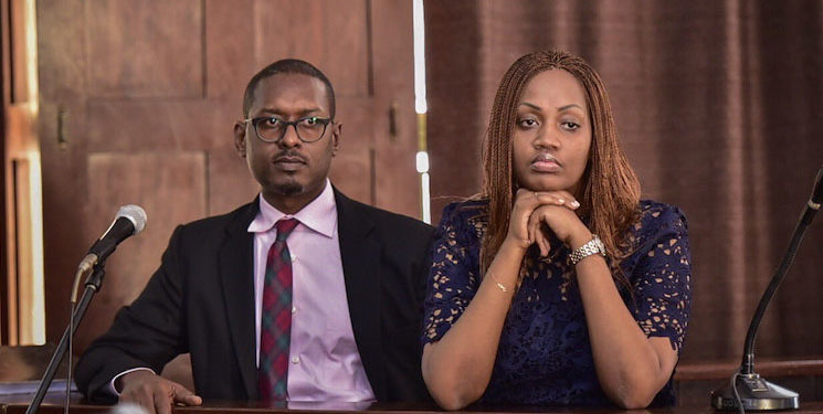 Mathew Kanyamunyu and Cynthia Munangwari in court