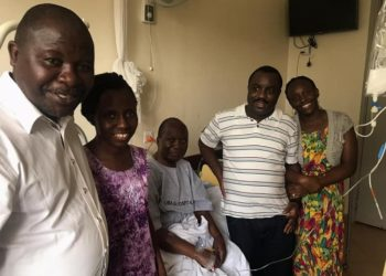 Former Democratic Party (DP) president Paul Kawanga Ssemogerere before he was discharged on Wednesday