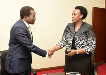 New Principal Private Secretary to the President, Dr. Kenneth Omona Olusegun and Molly Kamukama