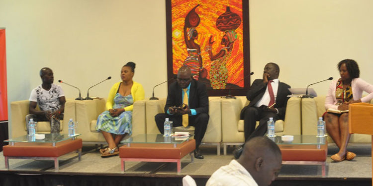 Panel discussion during the launch of a preliminary report —Uganda's Digital ID System: A cocktail of discrimination that took place on Tuesday in Kampala.