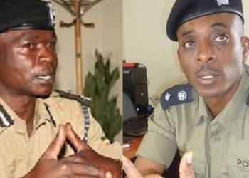 Joel Aguma ne Herbert Muhangi abatereddwa ku kakalu ka kkooti ya maggye.