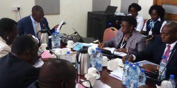 URA boss Doris Akol before Parliament's Finance Committee on Tuesday