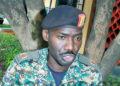 Major Bilal Katamba omwogezi we kibinja ekisooka ekya UPDF
