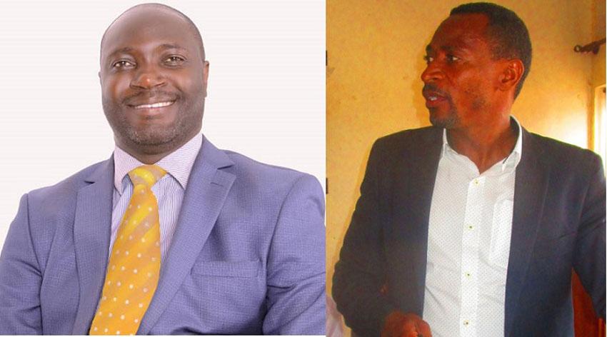Omulangira Jonathan Mawanda ku kkono ne Ssentebe wa Disitulikiti ye Mukono aliko kati Andrew Ssenyonga