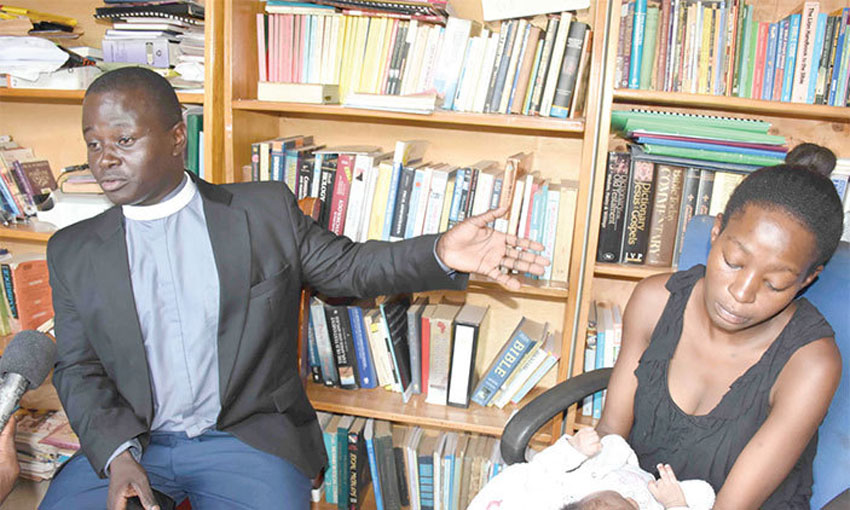 Rev Kalende with Nabirye recently