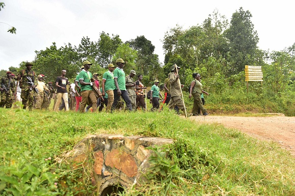 Museveni leads the Afrika Kwetu walk