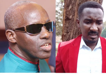 Omubaka wa Makindye East Allan Sewanyana ku ddyo ne Gen. Elly Tumwine Minisita we by'okwerinda