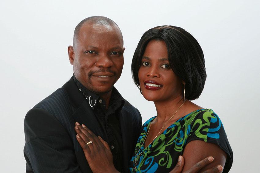 Pastor Jackson Senyonga with wife Eva Senyonga