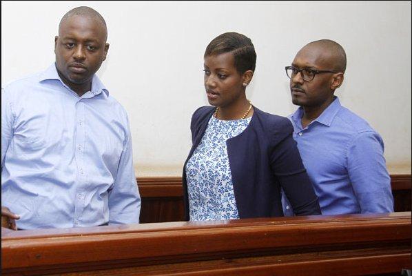 From left: Joseph Kanyamunyu, Cynthia and Matthew Kanyamunyu