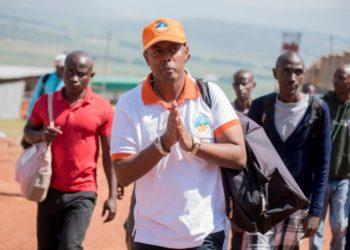 Kizito Mihigo leaving Nyarugenge Prison in 2018.