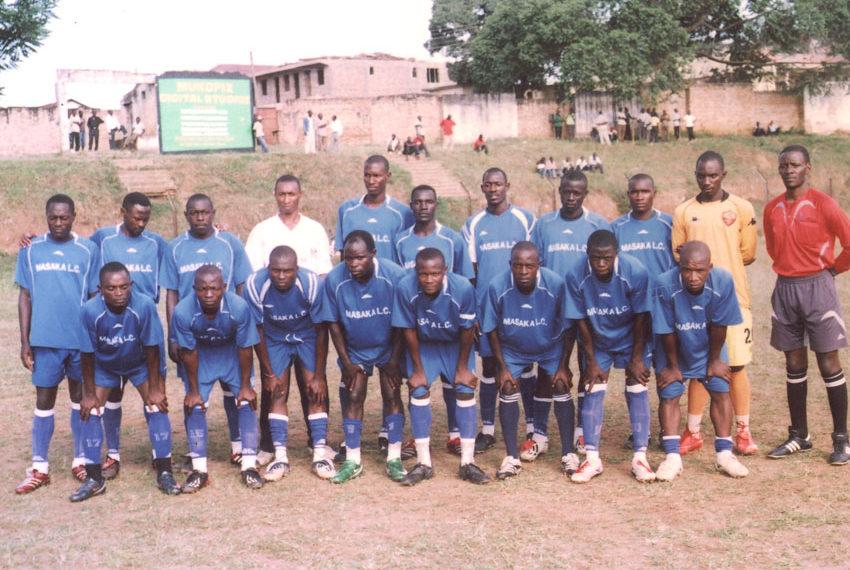 Masaka Lc Team: From Right, Herman Wasswa, Salimu Magoola (Goalkeeper), Constiano Muziba (Striker), Aloysious Lubega, Stuart Nyombi, Augustine Walusimbi (Defender), Bugembe Ashadu (Goalkeeper), Livingstone Lugemwa, Ronald Lukungu, Yusuf Kinene,Ndiefi Kamada (Midfielder), and Samson Ssenkoomi.