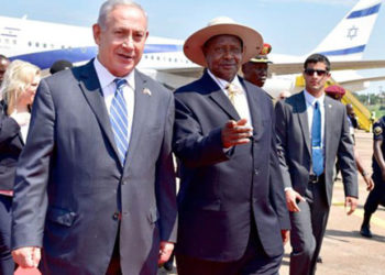 Israel Prime Minister Benjamin Netanyahu with President Museveni in 2016
