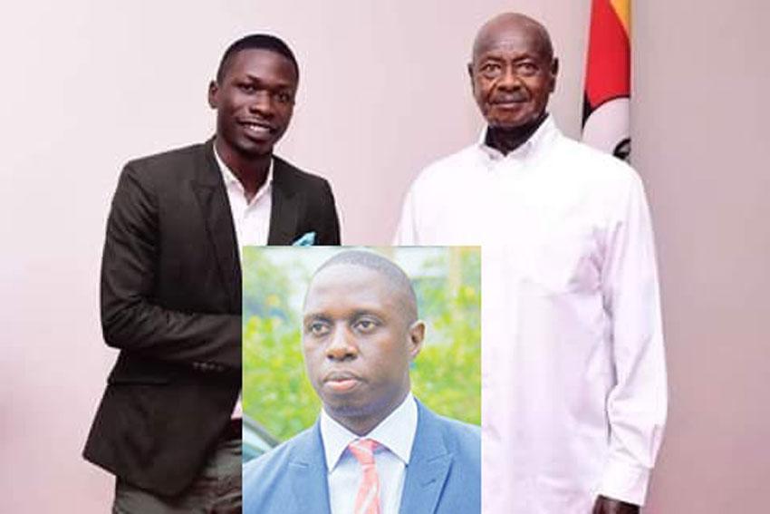 MP Nsereko's PA Abdul  Rashid Musisi with President Museveni recently