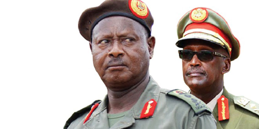 President Museveni and Lt Gen Tumukunde
