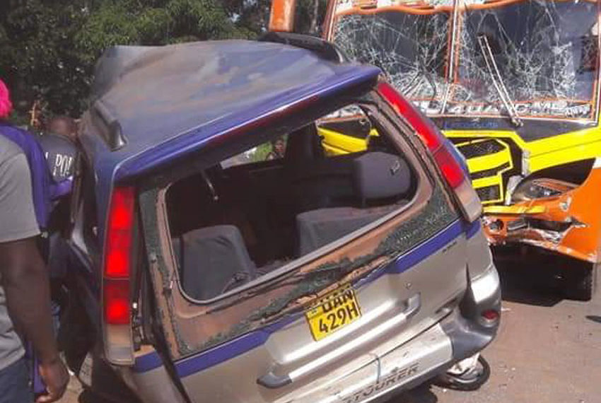 Accident on Masaka Road recently