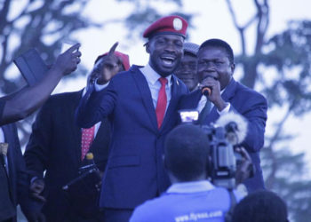 Bobi Wine and Norbert Mao
