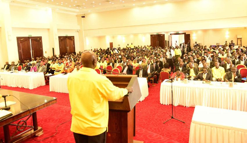 Akabondo ka NRM nga katudde gye buvuddeko Entebbe