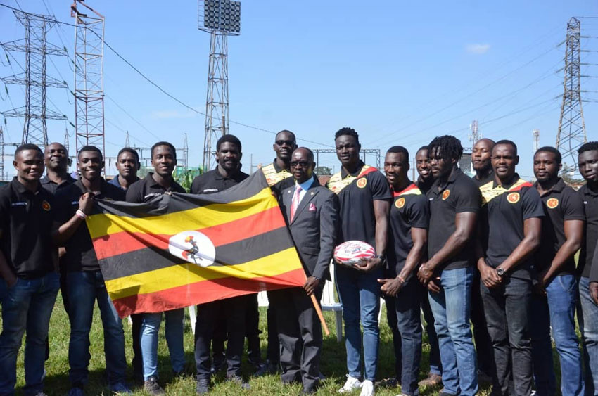Sports Minister Obua flags off the rugby sevens squad