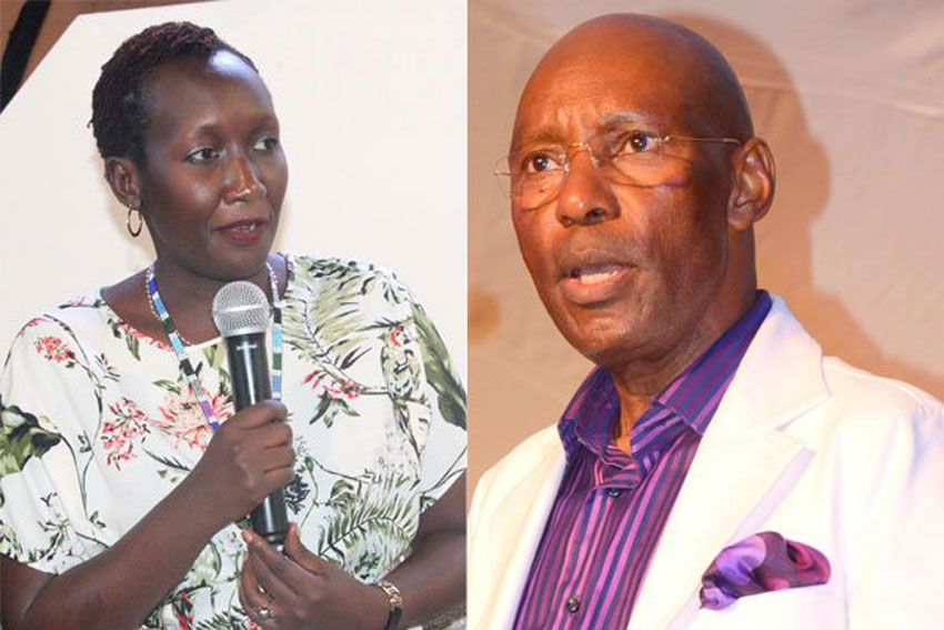 Eng Irene Kaggwa and Eng Godfrey Mutabazi