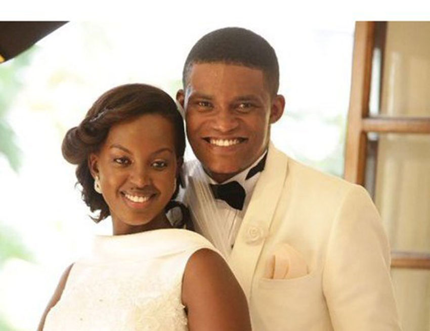 Flavia and Kabura on their wedding day last year