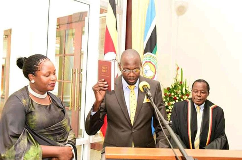 Jackson Kafuuzi swearing in as Deputy Attorney General
