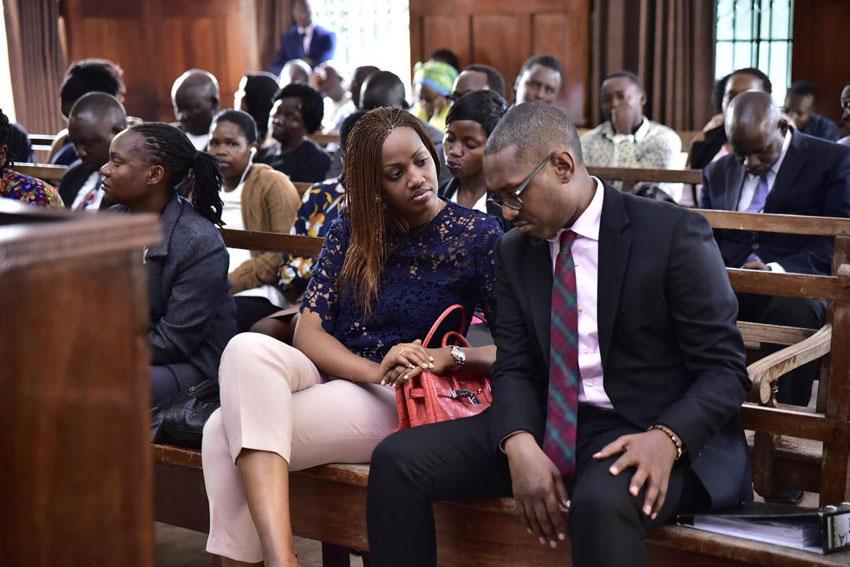 Mathew Kanyamunyu ne Muganziwe Cynthia Munwangari mu kkooti enkulu mu Kampala
