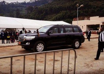 Presidet Museveni arrived at the meeting place almost an hour earlier than the rest