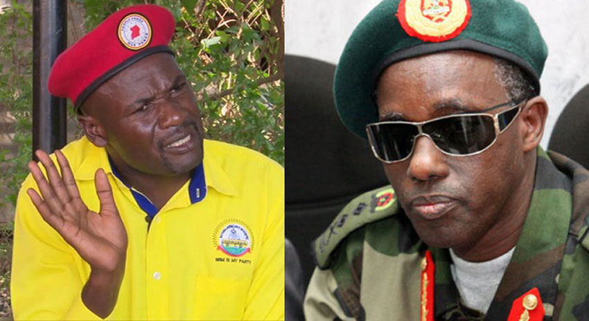 MP Gaffa Mbwatekamwa and Gen Elly Tumwine