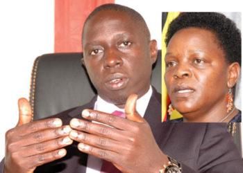 Kampala Member of Parliament Muhammad Nsereko and Gender Minister Peace Mutuuzo
