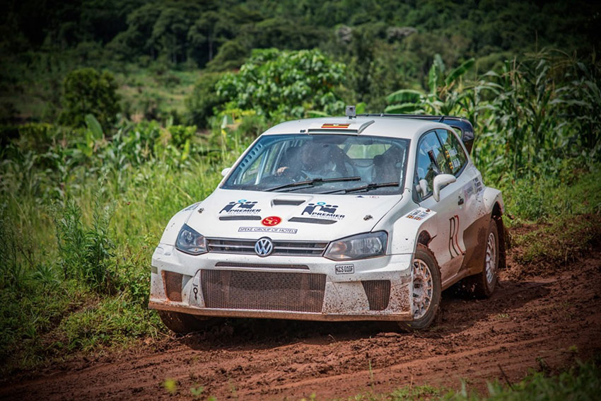Rajiv Ruparelia in his rally car