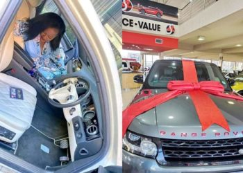 The car that Pasto Bugingo and his new lover Makula Susan allegedly donated to a dance group in South Africa