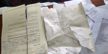 Some of the destroyed documents inside Mr Buzibu's office
