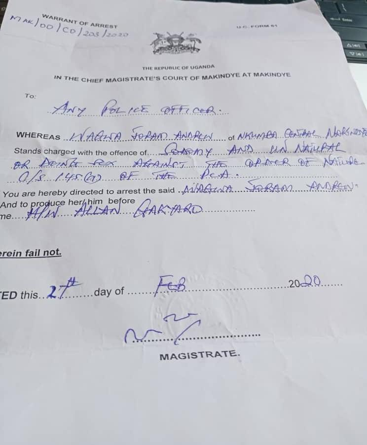 Police bond for Waggwa