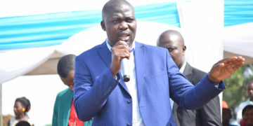 Richard Ssebamala speaking during the official opening of the Ssebamala Cup last year
