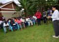 The head of State House Anti-Corruption Unit Lt Col Edith Nakalema talking to residents of Ntawo Village in Mukono district on March 6, 2020. Photo by PPU / Tony Rujuta.