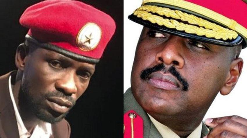 Bobi Wine and First Son Muhoozi