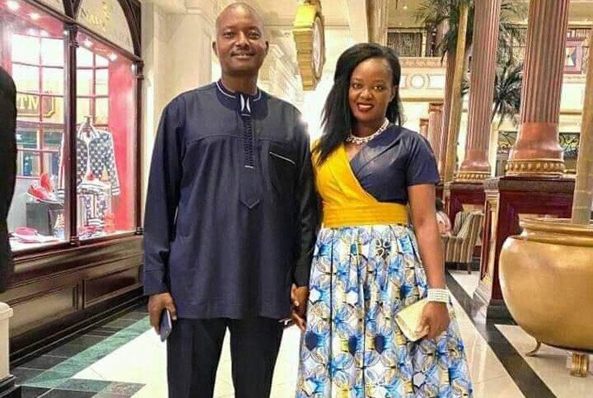 Pastor Bugingo with girlfriend Makula