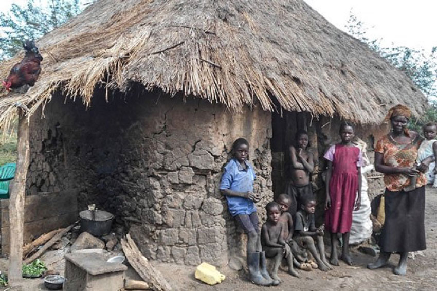 Some of the victims facing eviction in Kiryandongo