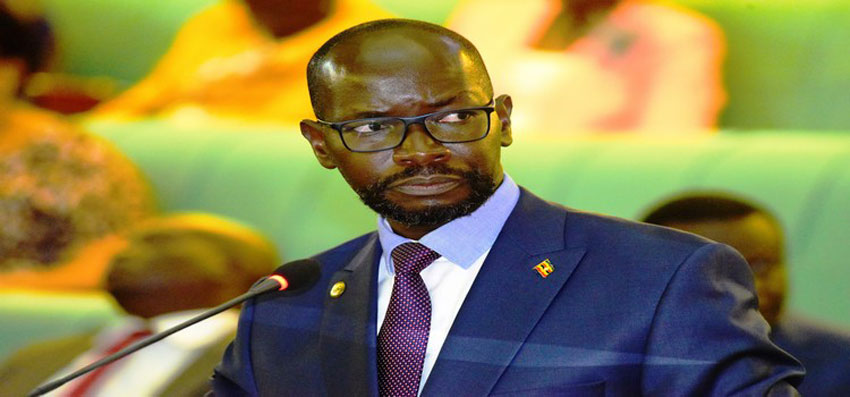Sports Minister Denis Obua