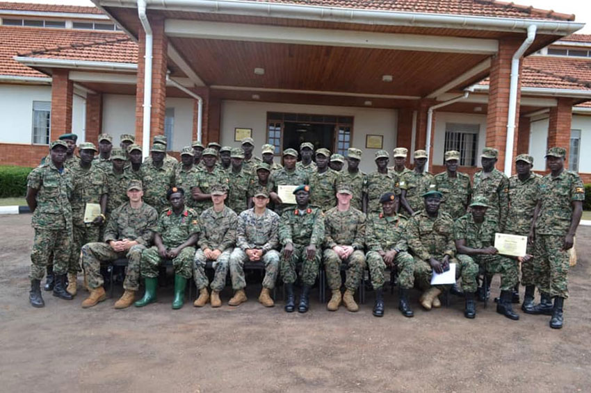 US marines train UPDF engineers in specialized skills
