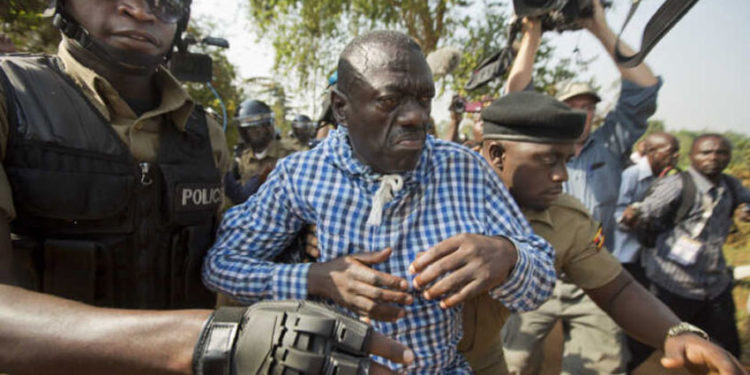 Dr Besigye being arrested by police a few years ago