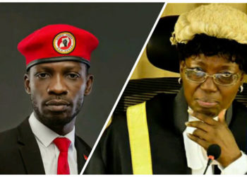 Bobi Wine and Speaker Kadaga